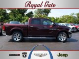 2012 Deep Molten Red Pearl Dodge Ram 1500 Laramie Crew Cab 4x4 #67745659