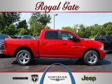 2012 Flame Red Dodge Ram 1500 Sport Crew Cab 4x4 #67745657