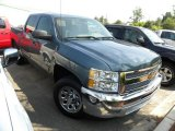 2012 Blue Granite Metallic Chevrolet Silverado 1500 LT Crew Cab #67745112