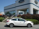 2012 White Platinum Tricoat Metallic Ford Focus Titanium Sedan #67744523