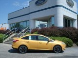 2012 Yellow Blaze Tricoat Metallic Ford Focus SE Sport Sedan #67744522