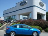 2012 Blue Candy Metallic Ford Focus SE Sport Sedan #67744521