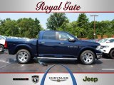 2012 True Blue Pearl Dodge Ram 1500 Laramie Crew Cab 4x4 #67744496