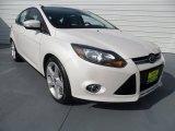 2012 White Platinum Tricoat Metallic Ford Focus Titanium 5-Door #67744990