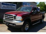 2004 Dark Toreador Red Metallic Ford F250 Super Duty XLT SuperCab 4x4 #67744983