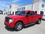2010 Vermillion Red Ford F150 STX SuperCab 4x4 #67744969