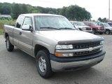 2001 Light Pewter Metallic Chevrolet Silverado 1500 LS Extended Cab 4x4 #67744942