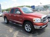 2008 Sunburst Orange Pearl Dodge Ram 1500 Big Horn Edition Quad Cab 4x4 #67744343