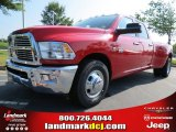 2012 Flame Red Dodge Ram 3500 HD Big Horn Crew Cab Dually #67744859