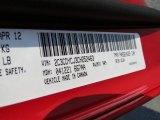 2012 Challenger Color Code for Redline 3 Coat Pearl - Color Code: PRY