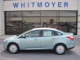 2012 Frosted Glass Metallic Ford Focus SE SFE Sedan #67845624