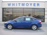 2012 Sonic Blue Metallic Ford Focus SE Sport Sedan #67845614