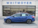 2012 Sonic Blue Metallic Ford Focus SE Sport Sedan #67845613