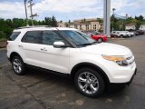 2013 White Platinum Tri-Coat Ford Explorer Limited 4WD #67845343