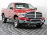 2007 Flame Red Dodge Ram 1500 Big Horn Edition Quad Cab 4x4 #67845576