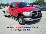 2008 Flame Red Dodge Ram 3500 ST Quad Cab 4x4 Flat Bed #67845571