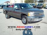2012 Mocha Steel Metallic Chevrolet Silverado 1500 Work Truck Regular Cab #67845567