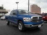 2007 Electric Blue Pearl Dodge Ram 1500 SLT Quad Cab #67845269