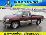 2002 Dark Carmine Red Metallic Chevrolet Silverado 1500 LS Regular Cab #67845867