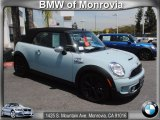 2011 Ice Blue Mini Cooper S Convertible #67845515