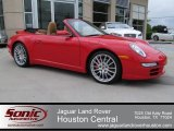 2008 Guards Red Porsche 911 Carrera 4S Cabriolet #67845739