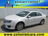 2010 White Platinum Tri-coat Metallic Ford Fusion SEL V6 #67901569