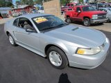 2000 Silver Metallic Ford Mustang V6 Coupe #67901565