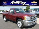 2013 Deep Ruby Metallic Chevrolet Silverado 1500 LT Regular Cab 4x4 #67901548