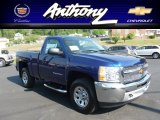 2013 Blue Topaz Metallic Chevrolet Silverado 1500 LS Regular Cab 4x4 #67901547