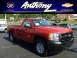 2013 Victory Red Chevrolet Silverado 1500 Work Truck Regular Cab 4x4 #67901546