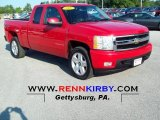 2007 Victory Red Chevrolet Silverado 1500 LT Extended Cab 4x4 #67901194