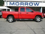 2004 Flame Red Dodge Ram 1500 SLT Quad Cab 4x4 #67900880
