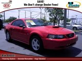2002 Torch Red Ford Mustang V6 Coupe #67901452