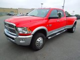 2012 Flame Red Dodge Ram 3500 HD Laramie Crew Cab 4x4 Dually #67901376