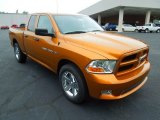 2012 Tequila Sunrise Pearl Dodge Ram 1500 Express Quad Cab #67901301