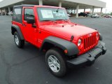 2012 Flame Red Jeep Wrangler Sport 4x4 #67901299