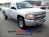 2012 Silver Ice Metallic Chevrolet Silverado 1500 Work Truck Regular Cab #67961879