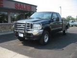2004 Dark Green Satin Metallic Ford F250 Super Duty XLT SuperCab 4x4 #67962128
