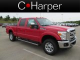 2012 Vermillion Red Ford F250 Super Duty Lariat Crew Cab 4x4 #67961430