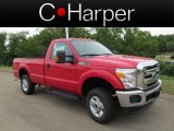2012 Vermillion Red Ford F250 Super Duty XLT Regular Cab 4x4 #67961428