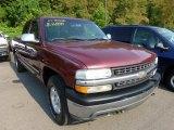 2001 Dark Carmine Red Metallic Chevrolet Silverado 1500 Z71 Extended Cab 4x4 #67961702