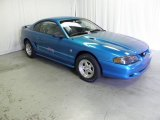 1995 Sapphire Blue Metallic Ford Mustang V6 Coupe #67961917