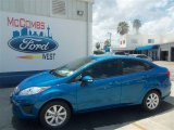 2013 Blue Candy Ford Fiesta SE Sedan #68042650