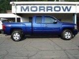2011 Laser Blue Metallic Chevrolet Silverado 1500 LT Extended Cab 4x4 #68051354