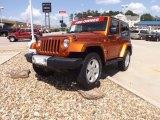 2010 Mango Tango Pearl Jeep Wrangler Sahara 4x4 #68051539