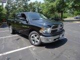 2012 Black Dodge Ram 1500 Big Horn Quad Cab 4x4 #68051682