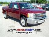2012 Deep Ruby Metallic Chevrolet Silverado 1500 LT Crew Cab 4x4 #68093647