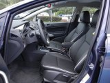 2013 Ford Fiesta Titanium Sedan Charcoal Black Leather Interior