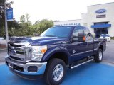 2012 Dark Blue Pearl Metallic Ford F250 Super Duty XLT SuperCab 4x4 #68093336