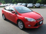2012 Race Red Ford Focus SEL Sedan #68093924